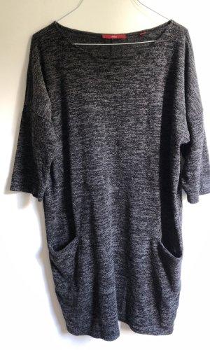 s.Oliver Sweaterjurk donkergrijs-grijs