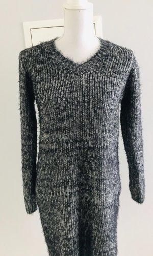 Sweaterjurk zwart-antraciet