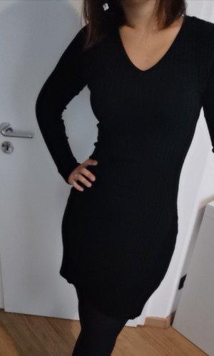 Sweaterjurk zwart Katoen