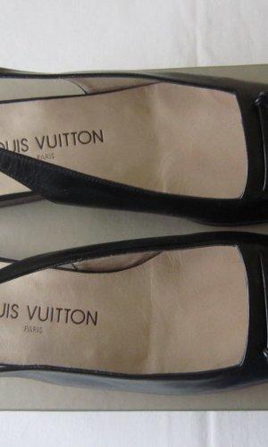 Louis Vuitton Escarpin à bride arrière noir cuir