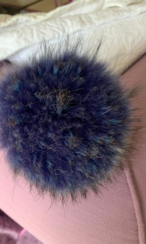 Key Chain dark blue-pale blue fur