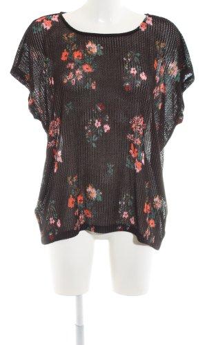 Q/S Gehaakt shirt bloemenprint casual uitstraling