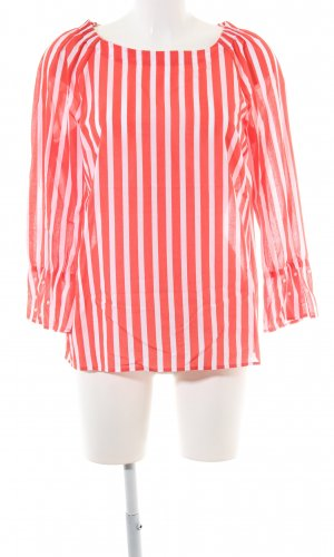 Rabe Langarm-Bluse rot-weiß Streifenmuster Elegant
