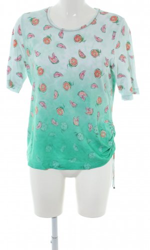 Rabe T-Shirt grün Allover-Druck Casual-Look