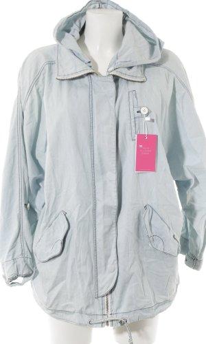Ragwear Oversized Jacke weiß-hellblau Casual-Look