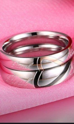 Partnerring zilver