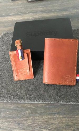 Superdry Bolso de viaje coñac-marrón Cuero