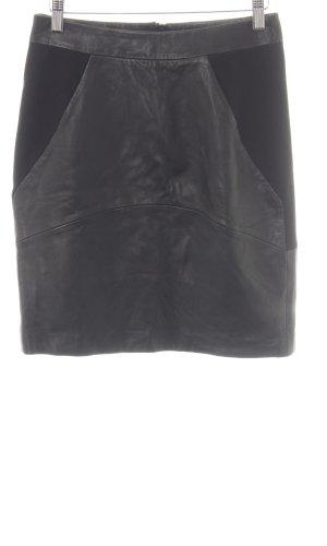 Reiss Lederrock schwarz schlichter Stil