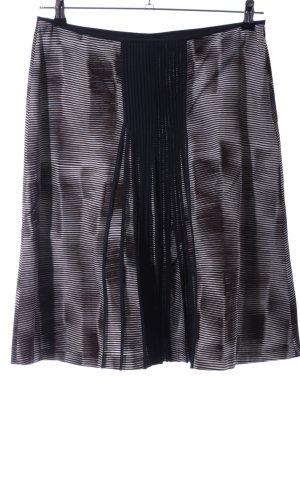 René Lezard Jupe à plis motif abstrait style décontracté