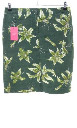 René Lezard Spijkerrok groen bloemenprint casual uitstraling