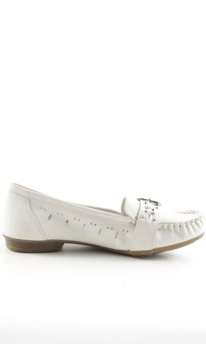 Rieker Moccasins white casual look