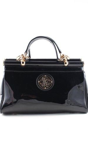 Roberto Cavalli Frame Bag black wet-look