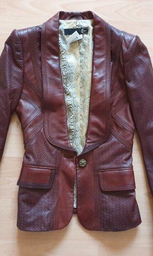 Roberto Cavalli Lederjacke Blazer Jacke Boho Bohemian vintage look
