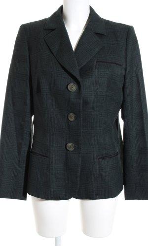 Roberto Quaglia Woll-Blazer dunkelgrün-dunkelblau Karomuster klassischer Stil