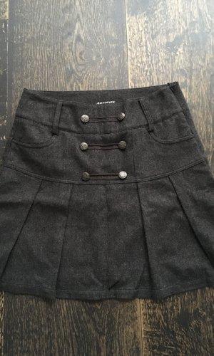 Wollen rok donkergrijs-antraciet Wol