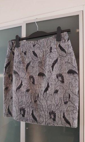 MCM Wollen rok lichtgrijs-zwart Wol