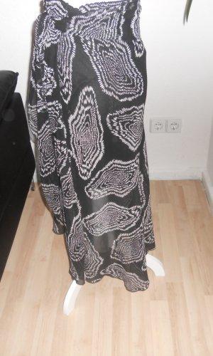 Yessica Volanten rok zwart-wit Polyester
