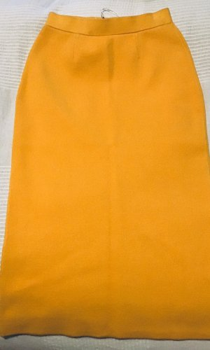Stefanel Wollen rok geel-goud Oranje
