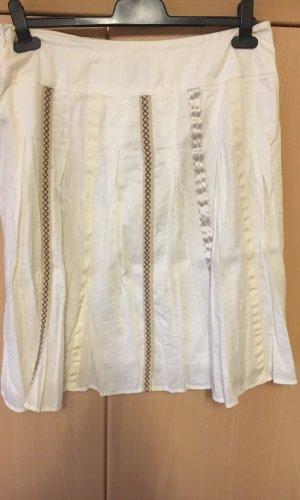 Edc Esprit Jupe à plis blanc-crème