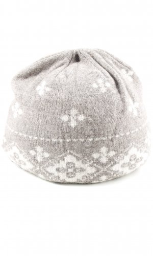 Roeckl Stoffen muts wolwit-wit abstract patroon casual uitstraling