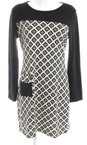 Rosalita MCGee Sweaterjurk zwart-wit volledige print casual uitstraling