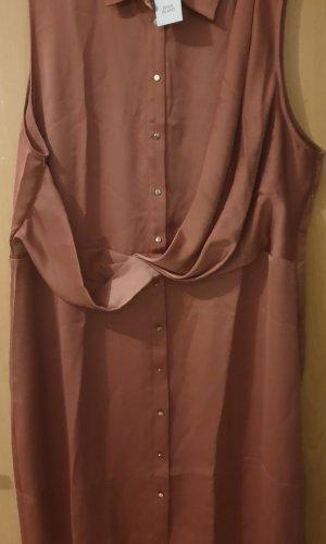 River Island Robe chemise doré-rouille