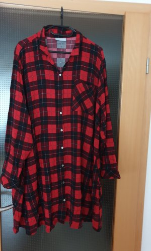 Janina Lange blouse zwart-baksteenrood