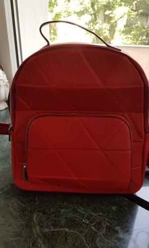 Parfois Sac à dos pour ordinateur portable rouge foncé faux cuir