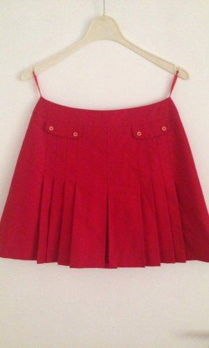 Jupe à plis rouge foncé tissu mixte