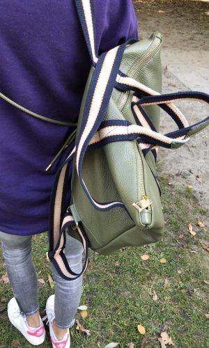 Borse in Pelle Italy Sac à dos pour ordinateur portable vert olive cuir