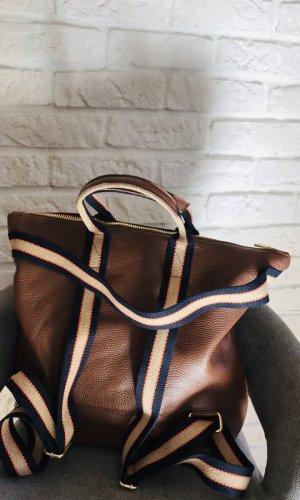 0039 Italy Sac à dos pour ordinateur portable brun cuir