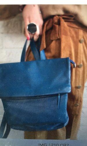 Borse in Pelle Italy Sac à dos pour ordinateur portable bleuet cuir