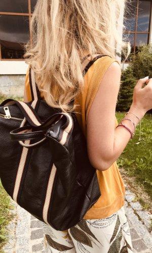0039 Italy Sac à dos pour ordinateur portable noir cuir