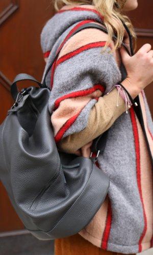 0039 Italy Sac à dos pour ordinateur portable gris cuir