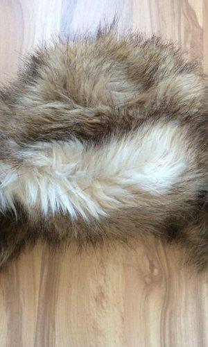 H&M Chapeau en fourrure gris clair-brun
