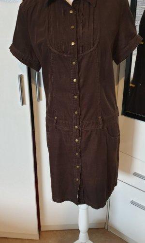 s.Oliver Robe chemise brun foncé