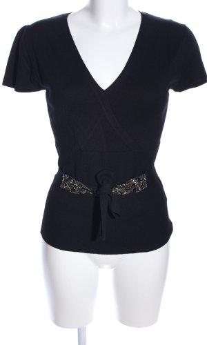 s.Oliver Sweater met korte mouwen zwart casual uitstraling