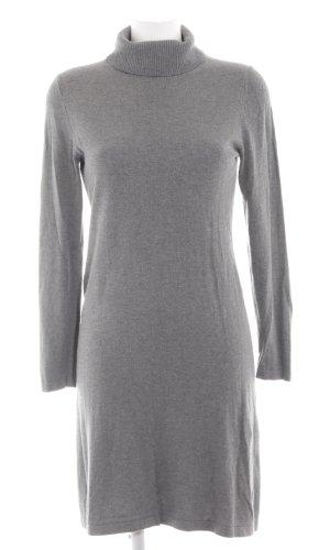 s.Oliver Sweaterjurk lichtgrijs gestippeld simpele stijl
