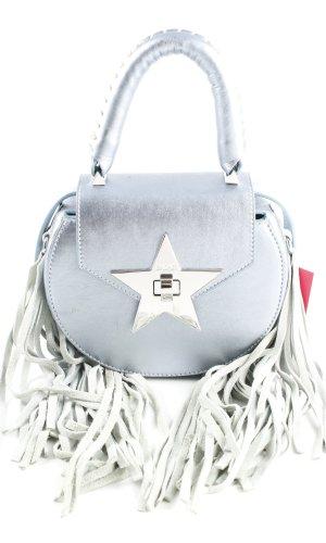 Salar Milano Fringed Bag silver-colored-light grey extravagant style