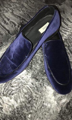 Closed Moccasins dark blue