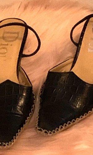 Dior Escarpin à bride arrière noir-blanc cassé