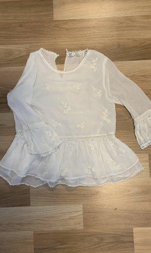 Schicke Weiße Bluse von Zara