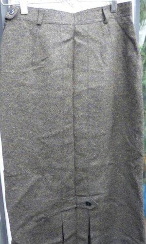 Lodenfrey Wollen rok bos Groen-donkergrijs