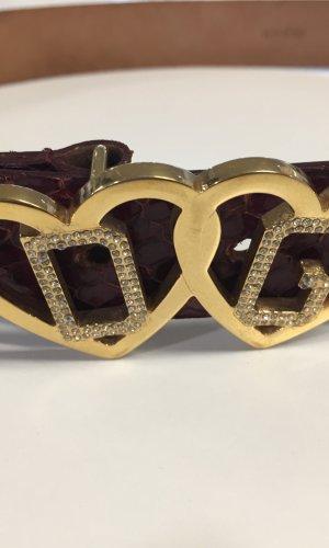 Schlangenleder-Gürtel von DOLCE & GABBANA