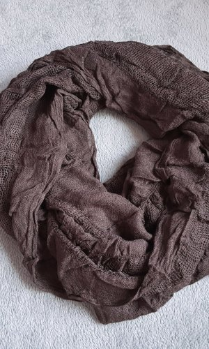 H&M Écharpe ronde brun-brun foncé tissu mixte