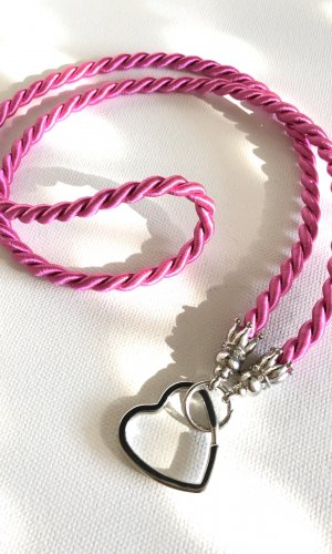 Key Chain pink-silver-colored