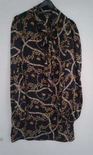 Schluppenbluse im Versace Muster