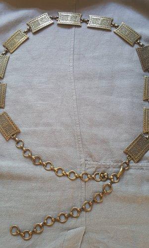 Cinturón de cadena color bronce-ocre metal