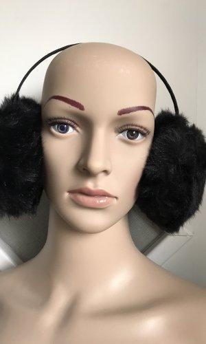 Earmuff black fake fur