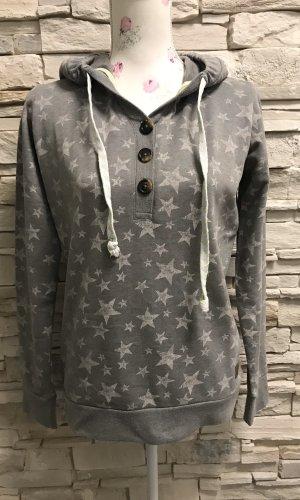 Tom Tailor Sweater met korte mouwen zilver-wit